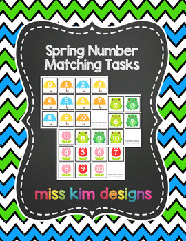 Spring Number Matching Folder Games for Early Childhood Special Education