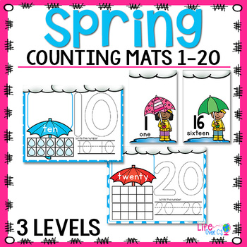 Spring Number Mats | Play Dough Number Mats | Counting Cards