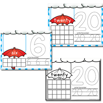Spring Number Mats   Play Dough Number Mats   Counting Cards