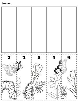 Spring Number Order Cut & Paste Scene
