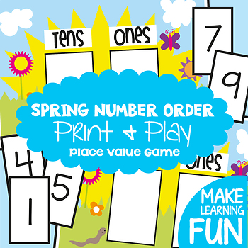 Place Value Game Activity and Worksheet