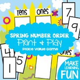 Tens and Ones Place Value Game Activity and Worksheet