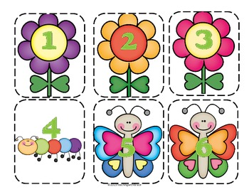 Spring Number Ordering: 0-20 and By 10s to 100