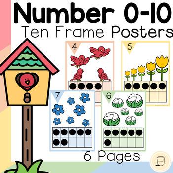 Spring Number Poster (0-10) with Ten Frames