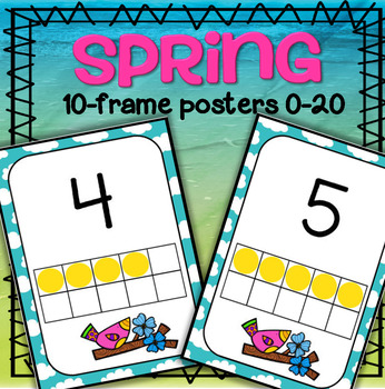 Spring Number Posters FREE