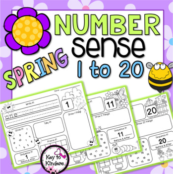 Spring Number Practice Printables - Weather, Bugs, Garden