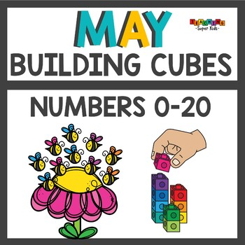 Spring Number Practice with Snap Cubes