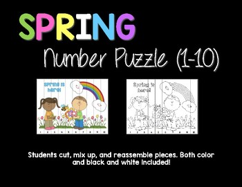 Spring Number Puzzle (1-10)