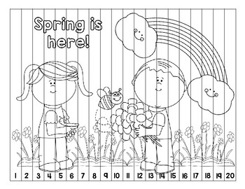 Spring Number Puzzle (1-20)