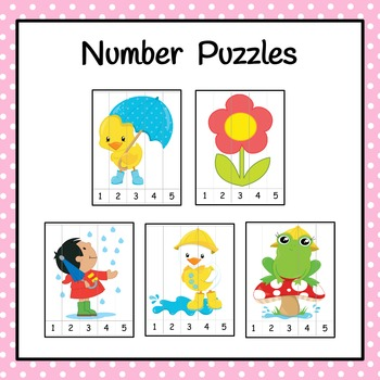 Number Puzzles: Spring Number Puzzles