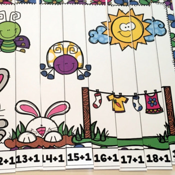 Spring Number Puzzles- Addition and Subtraction