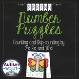 Spring Number Puzzles - Counting and Skip Counting