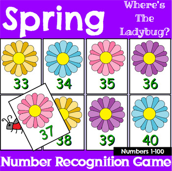 Spring Number Recognition Center or Whole Group Game