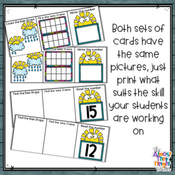 Spring Number Sense 11-20 counting, matching, reading & writing numbers