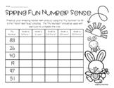 Spring Number Sense - Mental Math: 1 More, 1 Less, 10 More, 10 Less, 50 More