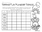 Spring Number Sense Mental Math: 20 More, 50 Less, 150 More, 200 Less, 350 More