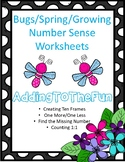 Bugs and Spring Growing - Number Sense Worksheets