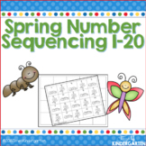Spring Number Sequencing 1-20