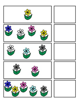 Spring Number Strips:  Numbers 1 to 10 (ESE or Gen. Ed)