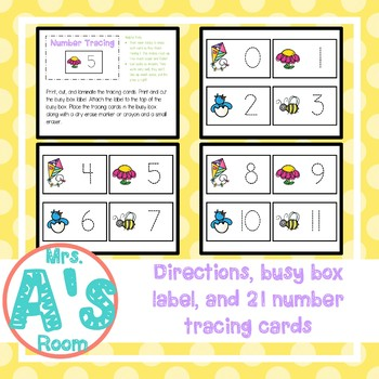 Spring Number Tracing Busy Box