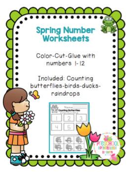 Spring Number Worksheets