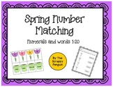 Spring Number and Word Matching 1-20