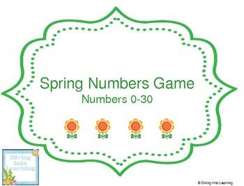 Spring Numbers 0-30 Game