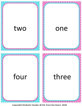 Spring Numbers 1-20 Flashcards