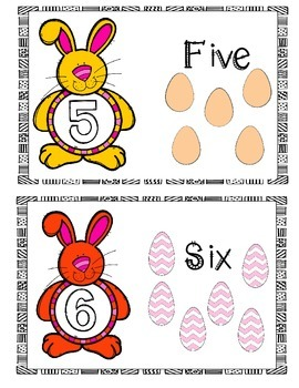 Easter Numbers 1 to 10 posters (FREEBIE)