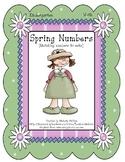 Spring Numbers! - Kindergarten - File Folder Game