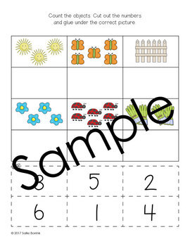 Spring Numbers and Counting 1-20 - Kindergarten
