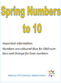 Spring Numbers to 10 Odd and Even coloured