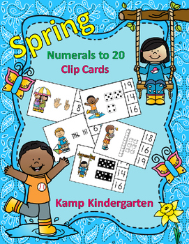 Spring Numerals to 20 Clip Cards