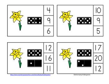 Spring Numerals to 20 FREEBIE