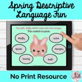 Spring Object Descriptive Fun Adjectives Language Lesson NO PRINT Teletherapy