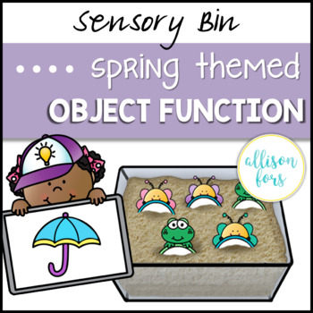 Spring Object Function Sensory Bin Speech Therapy