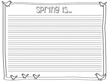 Spring Observations using the Five Senses