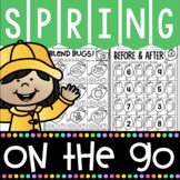 1 Kindergarten Math and Literacy Printables for Spring! Spring Worksheets!