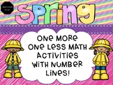 Spring One More, One Less Numbers 1-20 with Number Lines