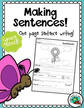 Spring One Page Sentence Writing Process