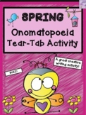 Spring Onomatopoeia Tear-Tab Creative Writing Activity