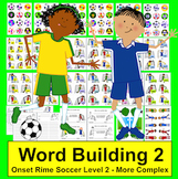 Summer Literacy Centers: Onset Rime Soccer - Level 2 - More Complex