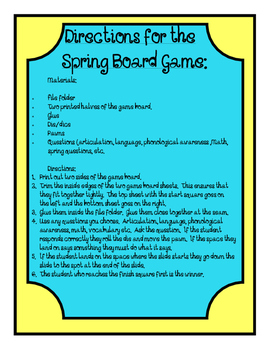 Spring Open Ended Board Game