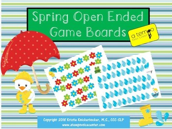 Spring Open Ended Gameboards Free!