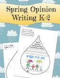 Spring Opinion Writing Craftivity