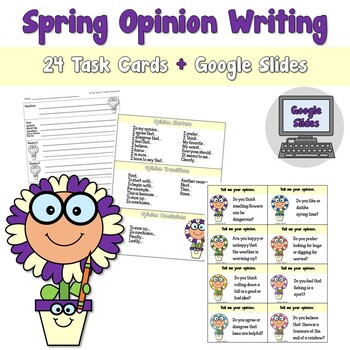Spring Opinion Writing Task Card Center