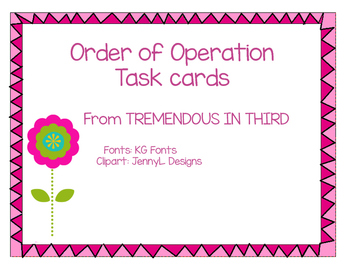 Spring Order of Operations Task Cards