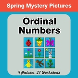 Spring: Ordinal Numbers - Math Mystery Pictures / Color By Number