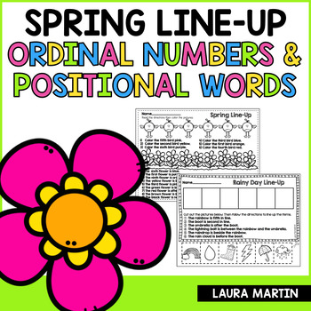 Spring Ordinal Numbers and Positional Words FREEBIE