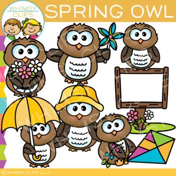 Spring Owl Clip Art